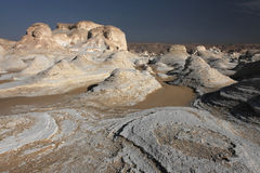 White rocks in Libyan desert stock images