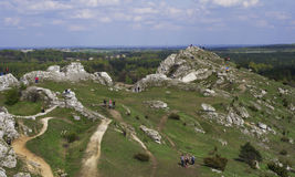 White rocks near Cracow Stock Photo