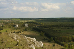 White rocks near Cracow Stock Photos