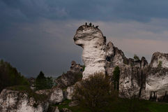 White rocks near Cracow Royalty Free Stock Photography