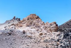 White rocks in Park Canadas del Teide Royalty Free Stock Image