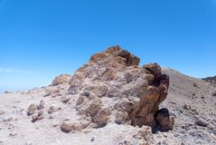 White rocks in Park Canadas del Teide Royalty Free Stock Photography