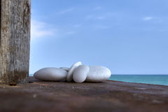 White rocks. By the sea royalty free stock photos