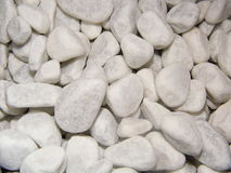 White rocks. Small white rocks close up Stock Images