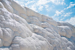 White rocks and travertines of Pamukkale Stock Photography