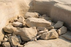 White rocks. royalty free stock photos
