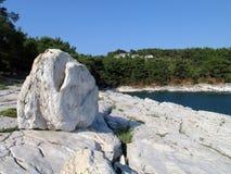 White rocky beach Stock Photo