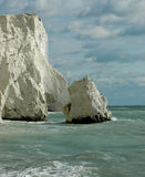 White rocky chalk cliffs Royalty Free Stock Photo