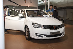 White roewe 350 car opened door Stock Photo