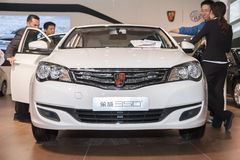 White roewe 350 car opened door Stock Photography