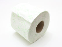 White roll of toilet paper Royalty Free Stock Photo
