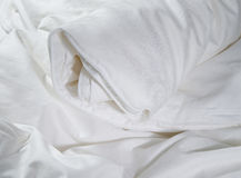 White roll up blanket Stock Photography