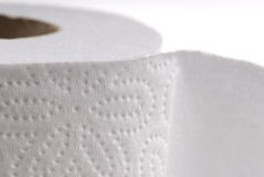 White rolled toilet paper Royalty Free Stock Photo