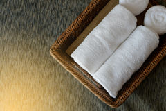 White rolled towels Stock Photos