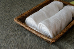 White rolled towels Royalty Free Stock Images