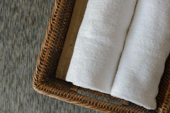 White rolled towels Stock Image