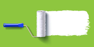 White roller brush Royalty Free Stock Photography