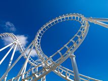 White roller coaster royalty free stock photos