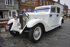 White Rolls Royce Stock Photo
