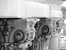 White Roman Style Pedestals or Pillars Stock Photography