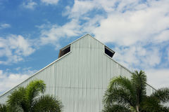 The white roof with blue sky Stock Photography