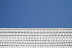 White roof on blue sky background Stock Photography