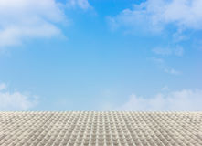 White roof with the cloudy blue sky Stock Image