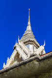 Thai Temple White Roof. White roof in temple of thailand Royalty Free Stock Image