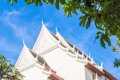 White roof of the temple Royalty Free Stock Photo