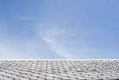 White roof tiles with sky Royalty Free Stock Images