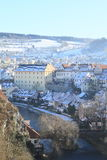 White roofs in Cesky Krumlov Royalty Free Stock Photos