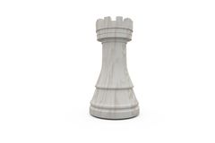 White rook chess piece Stock Image