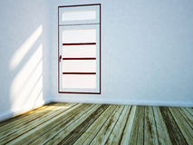 White room with a big window Royalty Free Stock Photography