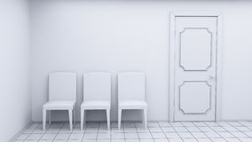 White room chairs Stock Photo