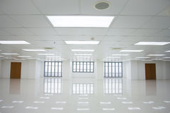 White room and empty space with windows Royalty Free Stock Images