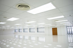 White room and empty space with windows Stock Image