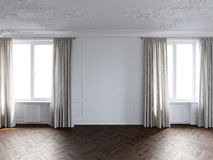 White room. In a French house Stock Image