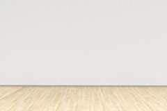 White room with hardwood floor Royalty Free Stock Image