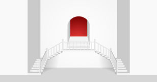White Room Interior With a Strairs and Arch. Vector Illustration. White Room Interior With an Arch and Strairs. Vector Illustration Royalty Free Stock Photography