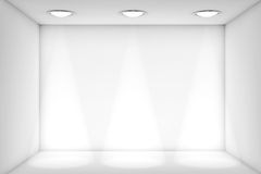 White room with Light for exhibition. Extreme Closeup White room with Light for exhibition Royalty Free Stock Photo