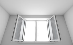 White room and open window Royalty Free Stock Photos