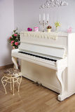 White room with the piano Royalty Free Stock Photo