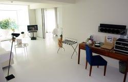 White room with radio. Stock Photos