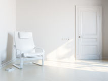 White room for relaxation Royalty Free Stock Images