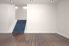 White room with stairs Royalty Free Stock Photos
