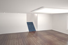 White room with stairs Stock Images