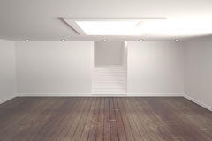 White room with stairs Royalty Free Stock Photography