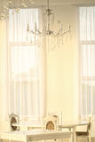 White room with white decor Royalty Free Stock Image