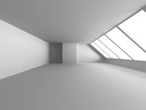 White Room With Window Light. Abstract Interior Background Royalty Free Stock Photography