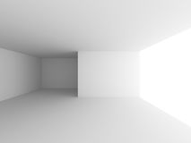 White Room With Window Light. Abstract Interior Background Royalty Free Stock Image